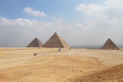 Great pyramids in Giza, Egypt Royalty Free Stock Photo