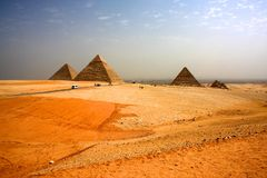Great Pyramids of Giza in Egypt Royalty Free Stock Photography