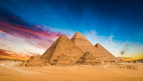 Great Pyramids of Giza stock images