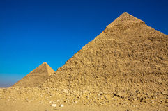 The Great Pyramids of Giza Stock Images
