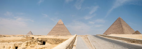 Great pyramids in Giza valley Stock Image