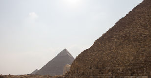 Great Pyramids of Gizah in Cairo, Egypt Stock Photos