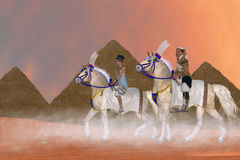 Great Pyramids and Nobility Stock Images