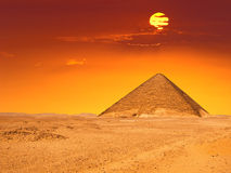 Great pyramyd of Dashur. Panoramic of the know as the Red Pyramid due the color of its stone Royalty Free Stock Photos