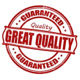 Great quality. Stamp with text great quality inside,  illustration Royalty Free Stock Photos