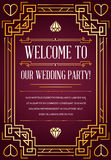 Great Quality Style Invitation. In Art Deco or Nouveau Epoch 1920s Gangster Era Vector Stock Image