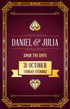 Great Quality Style Invitation. In Art Deco or Nouveau Epoch 1920s Gangster Era Vector Stock Images