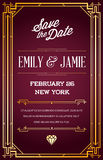 Great Quality Style Invitation Art Deco or Nouveau Epoch 1920 Stock Images