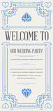 Great Quality Style Invitation in Art Deco or Nouveau Epoch 1920 Royalty Free Stock Photography