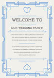 Great Quality Style Invitation in Art Deco or Nouveau Epoch 1920 Royalty Free Stock Photo