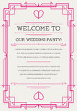 Great Quality Style Invitation in Art Deco or Nouveau Epoch 1920. 's Gangster Era Vector Royalty Free Stock Photo