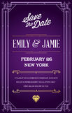 Great Quality Style Invitation in Art Deco or Nouveau Epoch 1920 Stock Images