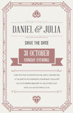 Great Quality Style Invitation in Art Deco or Nouveau Epoch 1920. 's Gangster Era Style Vector Royalty Free Stock Photo