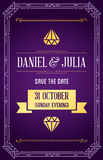 Great Quality Style Invitation in Art Deco or Nouveau Epoch 1920. 's Gangster Era Style Vector Royalty Free Stock Images