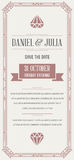 Great Quality Style Invitation in Art Deco or Nouveau Epoch 1920 Royalty Free Stock Photos