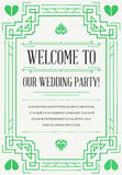 Great Quality Style Invitation in Art Deco or Nouveau Epoch 1920 Stock Photos