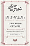 Great Quality Style Invitation in Art Deco or Nouveau Epoch 1920 Royalty Free Stock Image