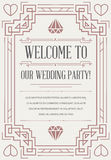 Great Quality Style Invitation in Art Deco or Nouveau Epoch 1920 Stock Photography
