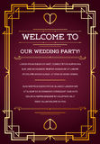 Great Quality Vintage Style Invitation. Great Quality Style Invitation in Art Deco or Nouveau Epoch 1920s Gangster Era Vector Stock Photos