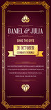 Great Quality Vintage Style Invitation. Great Quality Style Invitation in Art Deco or Nouveau Epoch 1920s Gangster Era Vector Stock Images