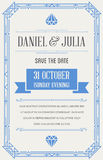 Great Quality Vintage Style Invitation Vector. Great Quality Style Invitation in Art Deco or Nouveau Epoch 1920s Gangster Era Vector Stock Photo
