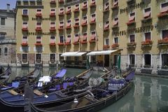 Great quiet place to rent a gondola royalty free stock images