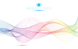 Great rainbow waves colorful gradient light blend line bright Royalty Free Stock Images