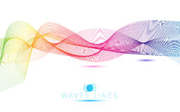 Great rainbow waves colorful gradient light blend line bright. Abstract royalty free illustration