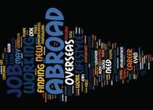 Great Reasons To Work Abroad Word Cloud Concept Stock Photo