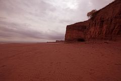 Great Red Beach Stock Image