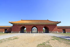 Great Red Gate in the Eastern Royal Tombs of the Qing Dynasty, c Stock Photo