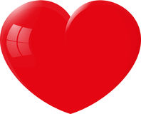 Great red heart royalty free stock photo