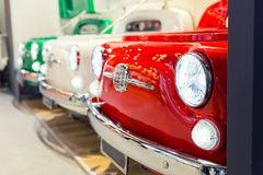 Great red oldtimer vintage car detail Royalty Free Stock Photo