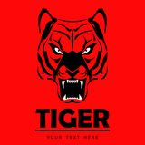 Angry roaring tiger. Great red roaring tiger. suitable for your mascot team Royalty Free Stock Photography