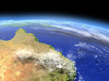 Great Reef Barrier from space Stock Image