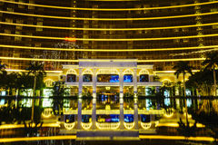Great reflection in front of the Wynn Macau Royalty Free Stock Photos