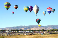 Great Reno Balloon Race. The Great Reno Balloon Race is the largest free hot air ballooning event in the United States. The event takes place for three days in Royalty Free Stock Photos