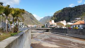 The Great Rift at Ribeira Brava Madeira royalty free stock photo
