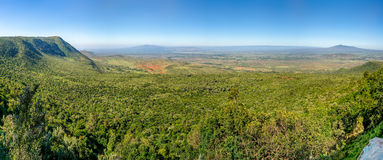 The Great Rift Valley. View of the Great Rift Valley from a viewpoint in Kenya Stock Photo