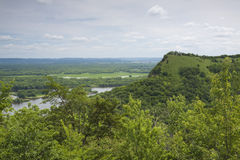 Great River Bluffs Overlook Royalty Free Stock Image