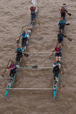 The Great River Race, boats on the Thames. Stock Images