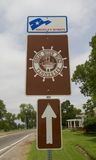 The Great River Road Sign along the Mississippi River in Memphis. Great River Road State Park is a state park in the U.S. state of Mississippi located off royalty free stock photo