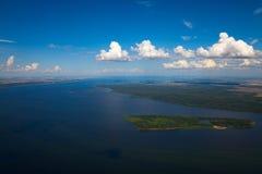 Great river Volga Royalty Free Stock Photos