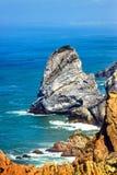Great rock formation Cabo da Roca, Cascais, Portugal. Cabo da Roca, Cascais, Portugal Lisboa Stock Images
