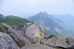 Great rock at mountaintop Royalty Free Stock Photo