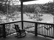 View from the porch at Pocono Plateau Camp stock photography