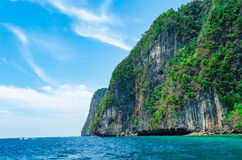 Great rocky mountain in the sea, Thailand. Royalty Free Stock Photo
