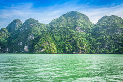 Great rocky mountain in the sea at Phuket,Thailand Royalty Free Stock Image
