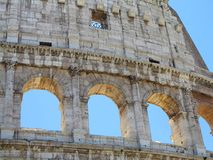 Great Roman Colosseum  Coliseum, Colosseo , Flavian Amphitheat. Re. Rome. Italy. Europe Royalty Free Stock Image