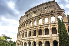 The Great Roman Colosseum Coliseum, Colosseo in Rome Stock Image